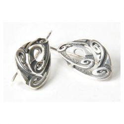 69 stare, srebrne, oryginalne kolczyki;