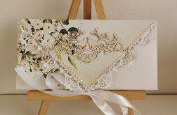 Kartka ślubna kopertówka kopertowa floral VI