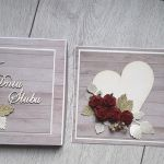 Kartka ślubna wraz z pudełkiem czerwone róże