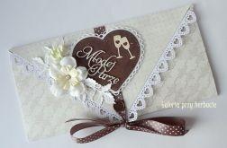 Kopertówka, kartka na ślub A65