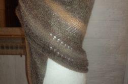 ciepła cieniowana chusta wełna moher alpaka