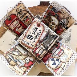 Exploding box - kartka urodzinowa