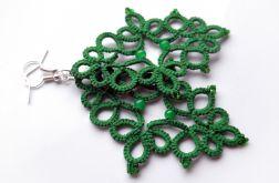 Misterne ażury- kolczyki zielone