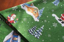 Obrus świąteczny Boże Narodzenie Wesoły Mikołaj 100 % bawełna - 240 cm x 143 cm