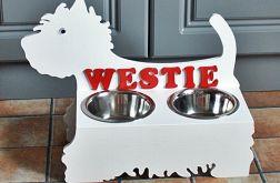 stojak na karmę dla psa- west terrier