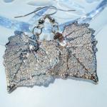 Listki bawelnay w srebrze925-kolczyki -