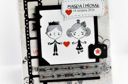 Komiksowa kartka ślubna