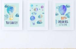 Zestaw plakatów / BLUE BALLOONS A3