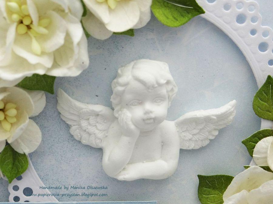 Pamiątka Chrztu dla chłopca -  aniołek