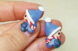 Kolczyki Świąteczne Skrzaciki Niebieskie