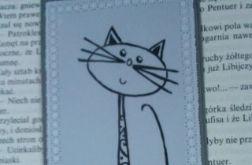 Zakładka do książki - czarny kot
