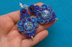 Blue & Violet kolczyki sutasz
