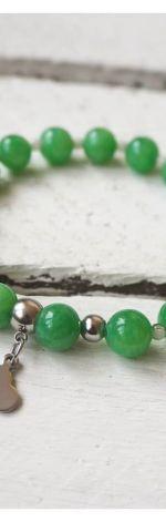 Zielony jadeit i agat dendrytowy