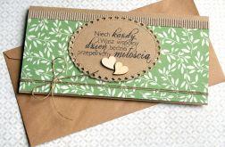kartka - kopertówka ŚLUBNA :: zieleń