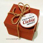 Pudełko z pytaniem do świadkowej lub świadka - Brązowe pudełko z kraftowym sznurkiem