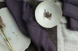 Serweta lniana z nutą oberżyny
