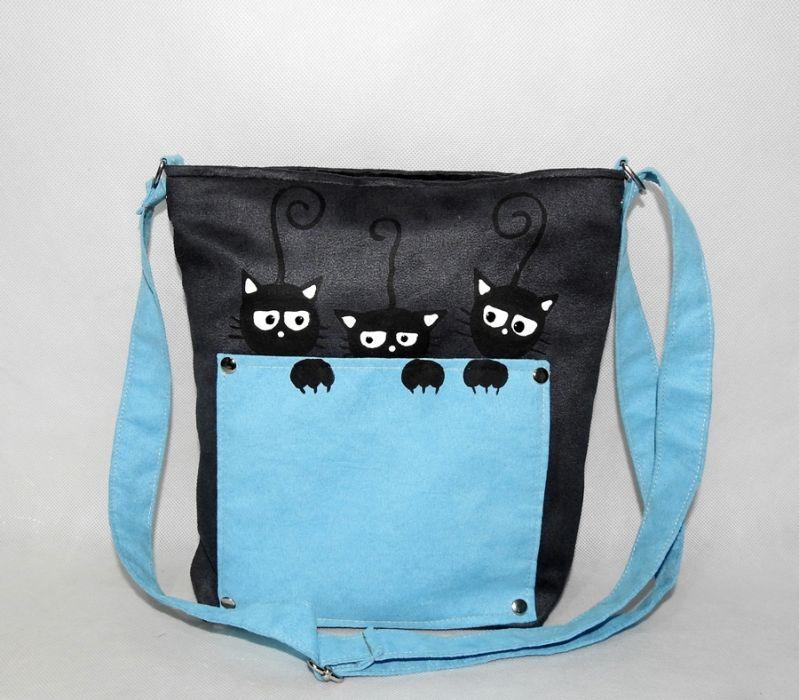 Torebka listonoszka dla dziewczynki kotki 3
