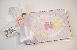 Album dla dziewczynki z praniem fioletowy 10 x 15 cm