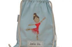 plecak worek baletnica z imieniem dziecka