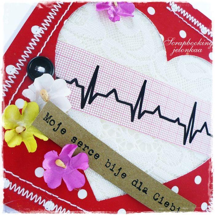 SERCE EKG - KARTKA
