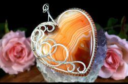 Srebrny wisior z Agatem pomarańczowym