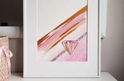 Obrazek/Plakat Diament + RAMKA