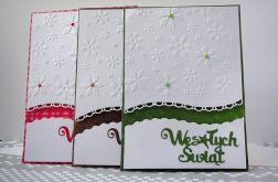 Komplet trzech kartek w bieli