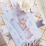 Kartka 3D na Narodziny Mommy's Hero GOTOWA