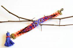 Indiańska barnsoletka Apacz z koralików BOHO