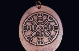 Tarcza algizowa (Aegishjalmur) - wisior