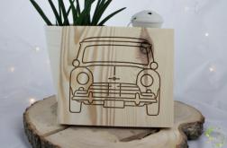 Drewniany obrazek Mini Cooper