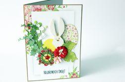 Kartka świąteczna z zajączkiem