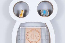 Półka na książki zabawki SOWA | biały