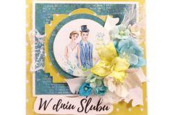 Kartka na ślub z grafiką - #615