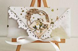 Kartka ślubna kopertówka obrączki