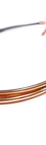 złote rurki - naszyjnik