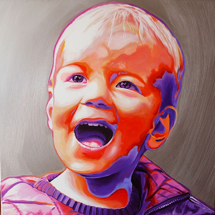 Portret średni pop-art
