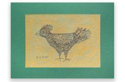 Ptaszek nr 10 - rysunek dekoracyjny do domu