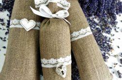 woreczki lawendowe szare płótno