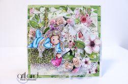 Tilda z sercem - kartka urodzinowa ArtLand