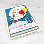 Kartka dla pływaka pies trampolina UDP 021 - Kartka dla pływaka pies na trampolinie urodziny (2)
