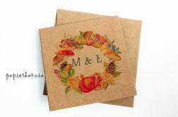 Jesień w ogrodzie - zaproszenia ślubne