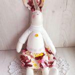 Króliczek Tilda 48cm w sweterku ecru GOTOWY -