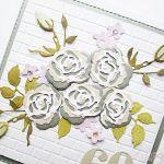 Kartka URODZINOWA z bukietem róż - Pastelowa kartka urodzinowa z różami
