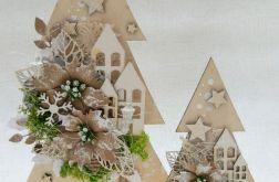 Drewniane choinki bożonarodzeniowe 2 szt #3