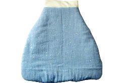 Śpiworek do spania dla niemowląt 0-6 niebieski w srebrne gwiazdki