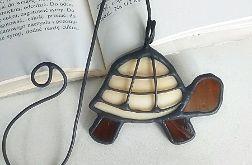 Zakładka do książki Żółw , witraż