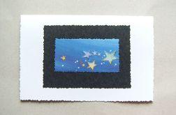 Kartka - gwiazdki na niebie