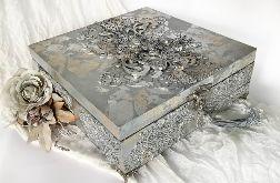 Szkatułka, pudełko vintage silver