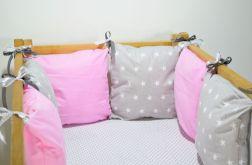 Modułowy ochraniacz do łóżeczka 6 szt N31